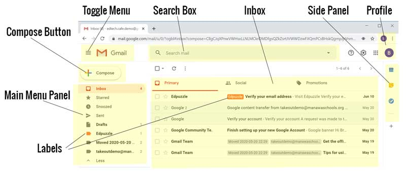 Gmail Inbox for Students