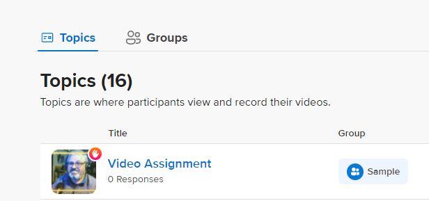 Flipgrid Topics & Groups