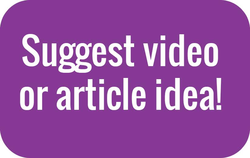 Suggest article or video idea
